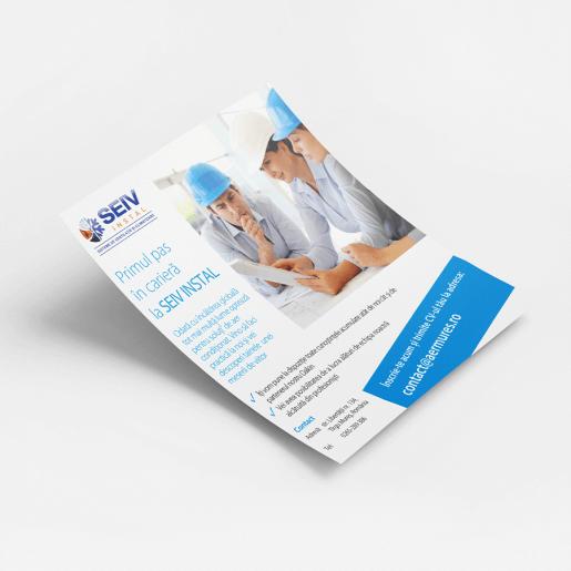 Flyer oferta angajare Seiv Install