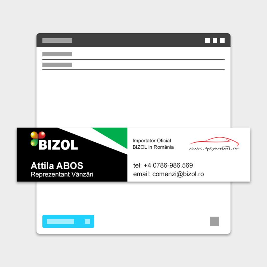 Semnatura email Bizol