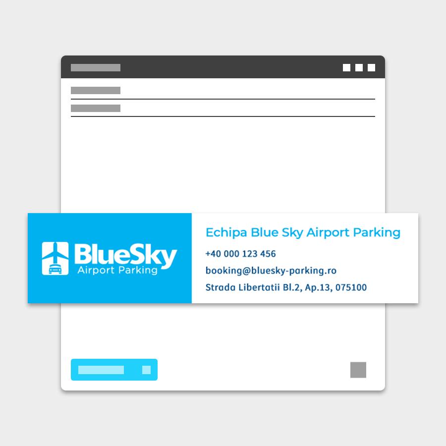 Semnatura email BlueSky Parking