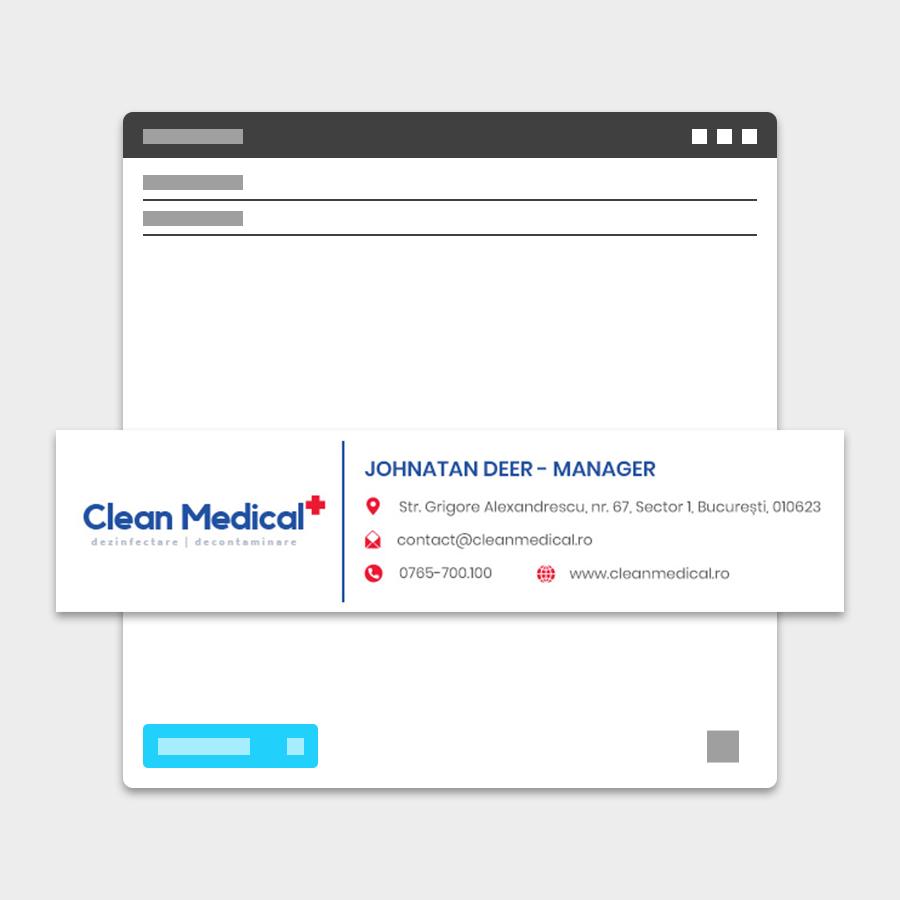 Semnatura email Clean Medical