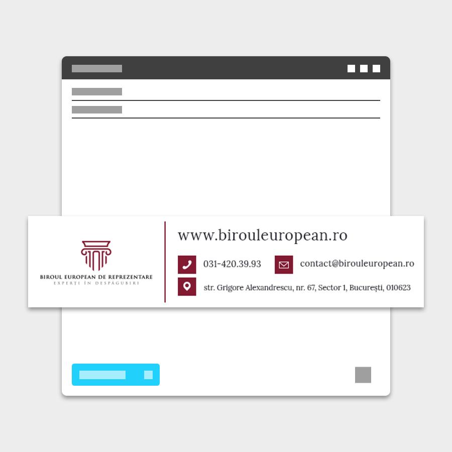 Semnatura email Biroul European