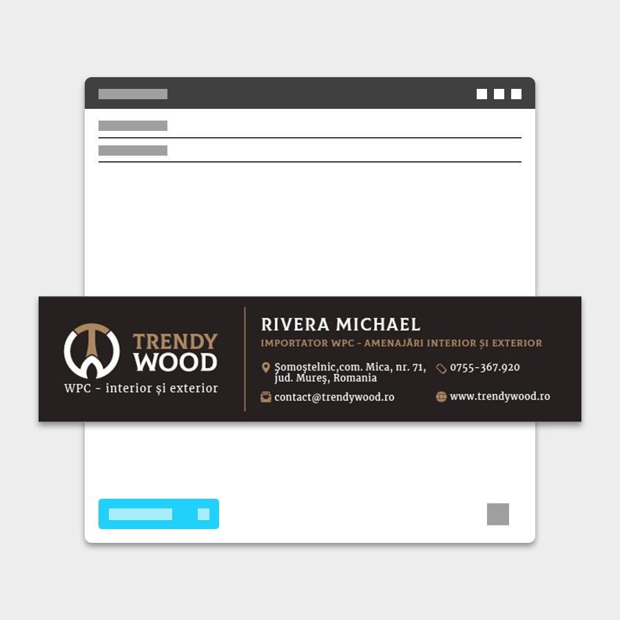 Semnatura email Trendy Wood