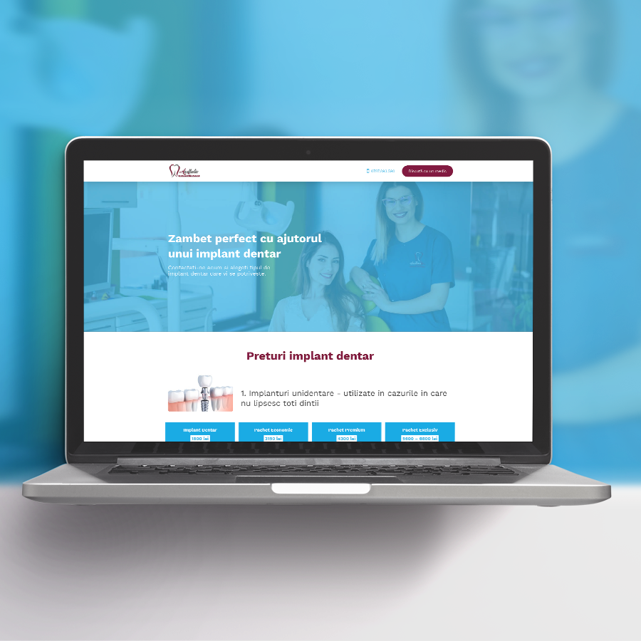Aesthetic Dental Clinic Landing Page